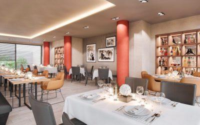 "Entwurf Neugestaltung Restaurant ""Il-Punto"" Bonn"