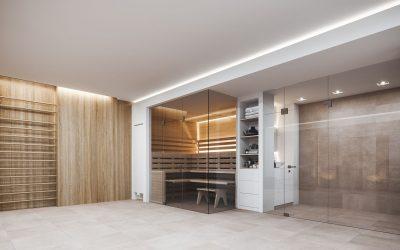Wellnessbereich im Einfamilienhaus